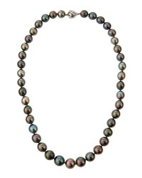 Belpearl 14K Multicolored Tahitian Pearl Necklace