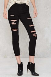 Nasty Gal Aline Distressed High Rise Jeans
