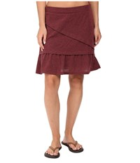 Prana Leah Skirt Burgundy Women's Skirt