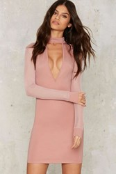 Sheer The End Of It Bodycon Dress Pink