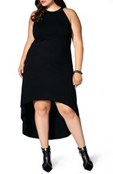 Mblm By Tess Holliday Plus Size Women's Halter Style High Low Maxi Dress Black