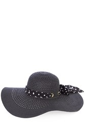 Oasis Black Floppy With Spot Bow