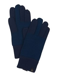 Pretty Green Middle F Finger Gloves Navy