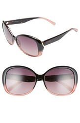 Women's Polaroid Eyewear 59Mm Polarized Sunglasses Black Pink Burgndy Polarized