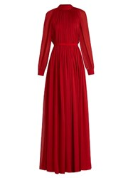 Maison Rabih Kayrouz Gathered Silk Mousseline Gown