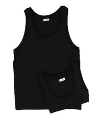 Dolce And Gabbana Day By Day Bi Pack Tank Top 2 Pack Black
