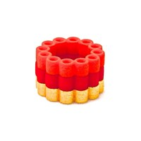 Heart And Noble Fanatic Gold Matte Steel Orange Red Nylon Circle Ring Trio6