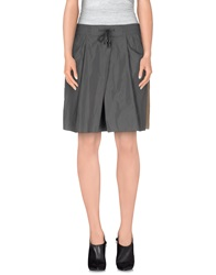 Max And Co. Knee Length Skirts Grey