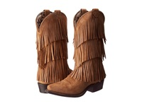 Dingo Tres Fringe Burnt Tan Cowboy Boots Brown