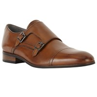 John Lewis Kin By Nick Double Buckle Monk Shoes Brown