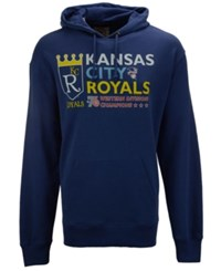 47 Brand '47 Men's Kansas City Royals Crosstown Striker Bic Hoodie Blue