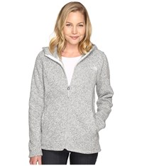 The North Face Crescent Full Zip Hoodie Lunar Ice Grey Heather Women's Sweatshirt White
