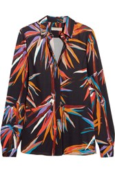 Emilio Pucci Printed Stretch Jersey Shirt Black