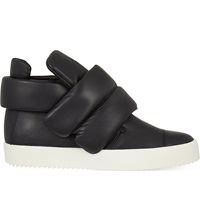 Giuseppe Zanotti Padded Strap High Top Leather Trainers Black