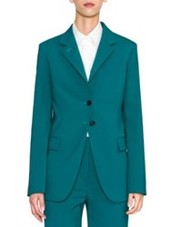 Jil Sander Vermeer Two Button Blazer Peacock