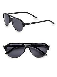 Sperry Sussex Oval Sunglasses Matte Black
