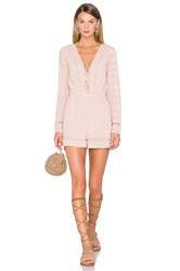 House Of Harlow X Revolve Mila Long Sleeve Romper Taupe