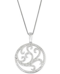 Macy's Circle Of Love Pendant Necklace 3 8 Ct. T.W. In 10K White Gold