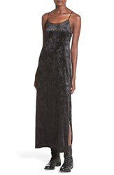 Junior Women's Painted Threads Velvet Burnout Strappy Maxi Dress