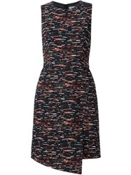 Grey Jason Wu Sleeveless Tweed Dress Black