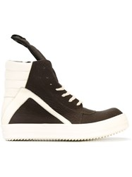 Rick Owens 'Geobasket' Hi Top Sneakers Red