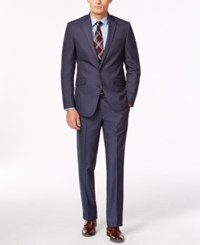 Kenneth Cole Reaction Slim Fit Light Blue Sharkskin Suit