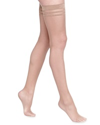 Alice Olivia Opaque Thigh High Stockings By Pretty Polly Nude Brown