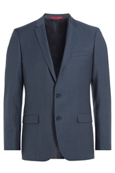Hugo Virgin Wool Blazer Blue