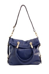 Erica Anenberg Sutton Leather Crossbody Tote Blue