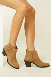 Forever 21 Faux Suede Chelsea Booties