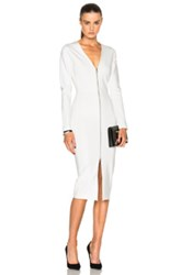 Veronica Beard Firefly Slit Dress In White