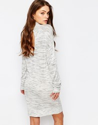 Jdy J.D.Y High Neck Open Back Jersey Dress Grey