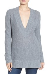 Women's Bp. Deep V Neck Pullover Grey Medium Heather