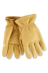 Red Wing Shoes Buckskin Leather Gloves Yellow