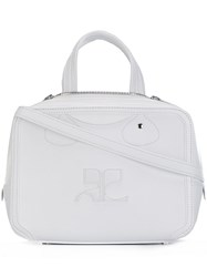 Courreges Small Cross Body Bag White