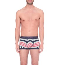 Ted Baker Striped Stretch Cotton Boxers Grey Marl