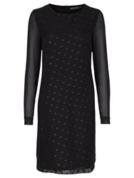 Sugarhill Boutique Hallie Swiss Dot Tunic Dress Black