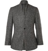 Kilgour Grey Stand Shawl Slim Fit Alpaca Blend Blazer Gray