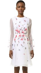 Prabal Gurung Embroidered Dress Ivory