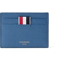 Thom Browne Pebble Grain Leather Cardholder Blue