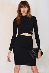 Nasty Gal American Woman Ribbed Pencil Skirt