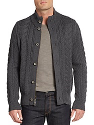 Vince Cable Knit Wool Cardigan Grey