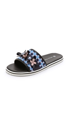 Mother Of Pearl Pool Slides Blue Square