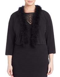 Calvin Klein Plus Maribu Shrug Black