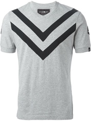 Hydrogen Chevron Detail T Shirt Grey