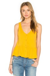 Lucca Couture Button Front Tank Yellow