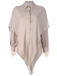 Gianfranco Ferre Vintage Double Layer Shirt Nude And Neutrals