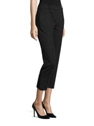 Abs By Allen Schwartz Pinstripe Cropped Pants Charcoal