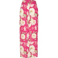 River Island Womens Pink Floral Print Maxi Skirt