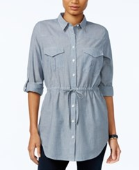 Tommy Hilfiger Utility Tunic Shirt Only At Macy's Indian Stripe